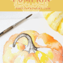 How to watercolor paint a pumpkin